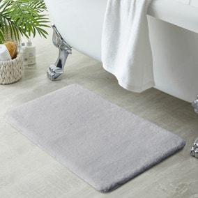 Anti-Bacterial Memory Foam Silver Bath Mat