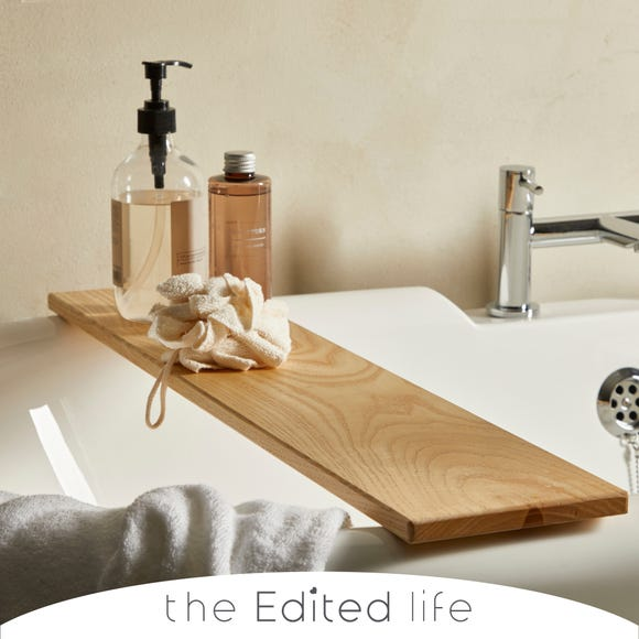Ash Wood Bath Rack Wood (Brown)