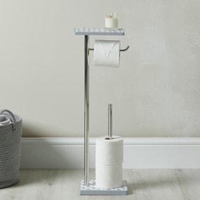 Geo Tile Toilet Butler and Shelf