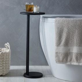 Elements Matt Black Bath Side Table