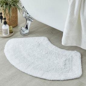 Supersoft White Oval Bath Mat