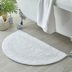 Supersoft White Semi Circle Bath Mat