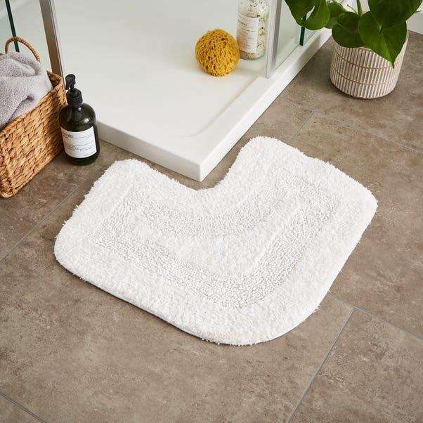 Supersoft White L Shape Bath Mat