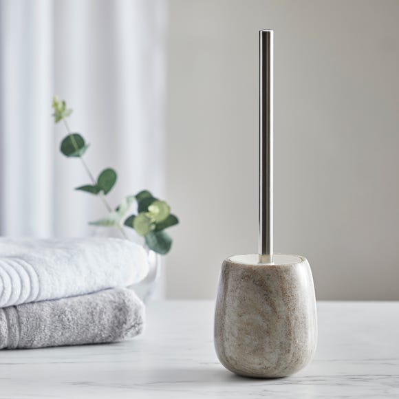 Dorma Purity Marble Natural Toilet Brush Natural (Beige)