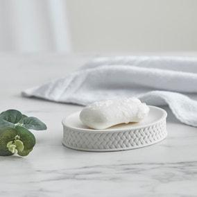 Dorma Purity Porcelain White Soap Dish