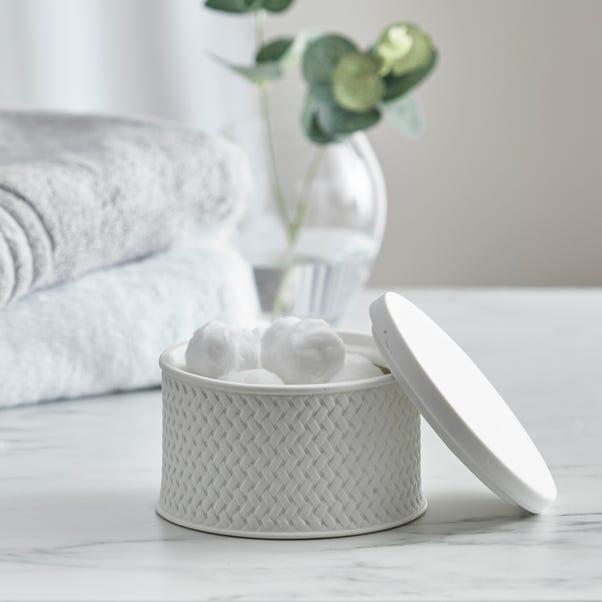 Dorma Purity Porcelain Small White Storage Trinket Box White