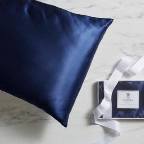 Dorma Navy Silk Pillowcase