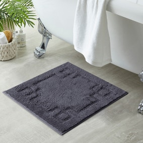 Luxury Cotton Charcoal Shower Mat
