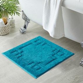 Luxury Cotton Teal Shower Mat