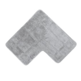 Luxury Cotton L Shape Silver Bath Mat