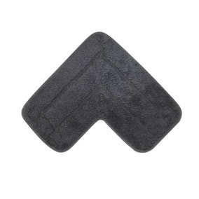 Luxury Cotton L Shape Charcoal Bath Mat