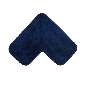 Luxury Cotton L Shape Navy Bath Mat