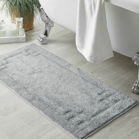 Luxury Cotton Silver Bath Runner