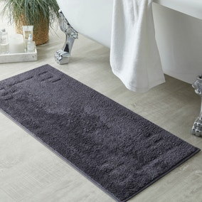 Luxury Cotton Charcoal Bath Runner