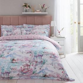 Dorma Tranquil Garden 100% Cotton Duvet Cover and Pillowcase Set