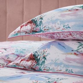 Dorma Tranquil Garden 100% Cotton Oxford Pillowcase Pair