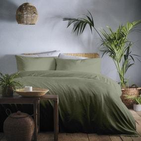 Appletree Cassia Khaki 100% Cotton Duvet Cover and Pillowcase Set