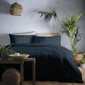 Appletree Cassia Navy 100% Cotton Duvet Cover and Pillowcase Set