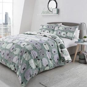 Fusion Dotty Sheep Duck Egg Duvet Cover and Pillowcase Set