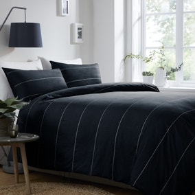 Appletree Salcombe Navy 100% Cotton Duvet Cover and Pillowcase Set