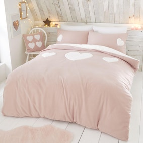 Catherine Lansfield Cosy Heart Duvet Cover and Pillowcase Set