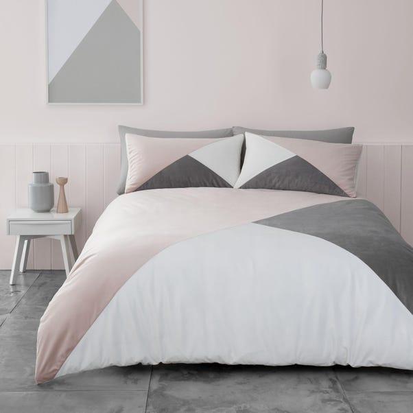 Catherine Lansfield Milena Velvet Duvet Cover and Pillowcase Set MultiColoured undefined