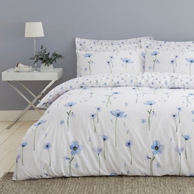 Maddie Blue Floral Reversible Duvet Cover and Pillowcase Set