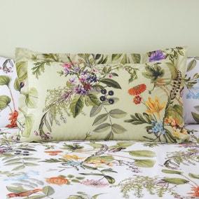 Paradise Birds Green Oxford Pillowcase