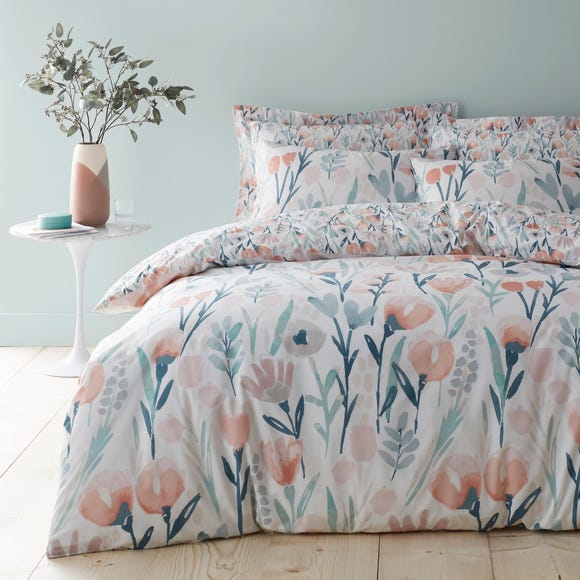 Emmie Pink Floral Reversible Duvet Cover and Pillowcase Set  undefined