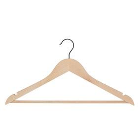 Set of 3 Wood Hangers Black