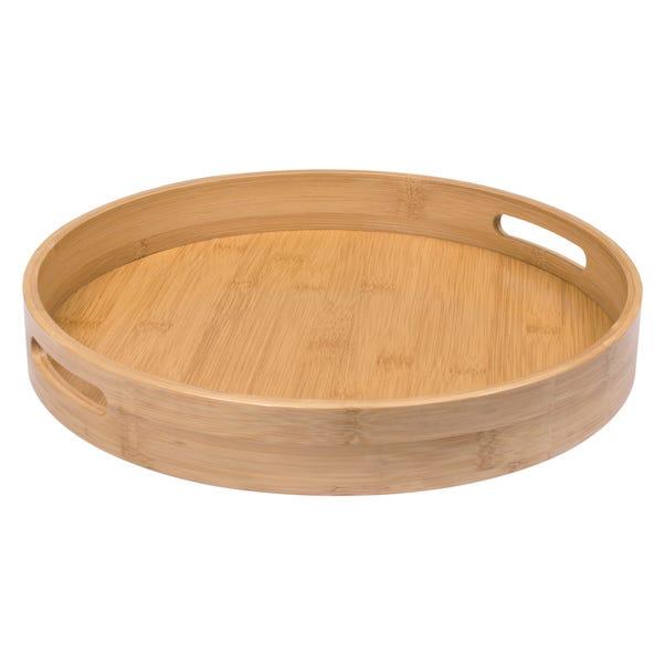 Round Bamboo Tray Natural