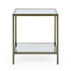 Claudia Brass Effect Square Side Table