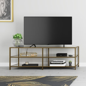 Claudia Brass Effect Wide TV Stand