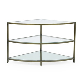 Claudia Brass Effect Corner TV Stand