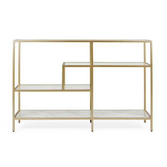 Claudia Gold Effect Console Table Gold