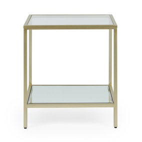 Claudia Gold Effect Square Side Table