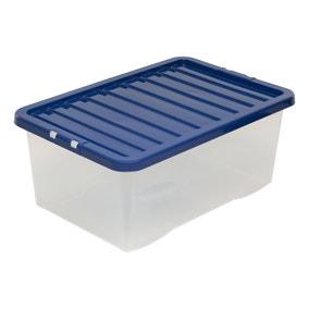 Navy 45L Storage Box