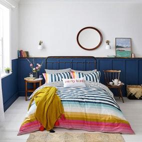 Joules Cambridge Striped 100% Cotton Duvet Cover and Pillowcase Set