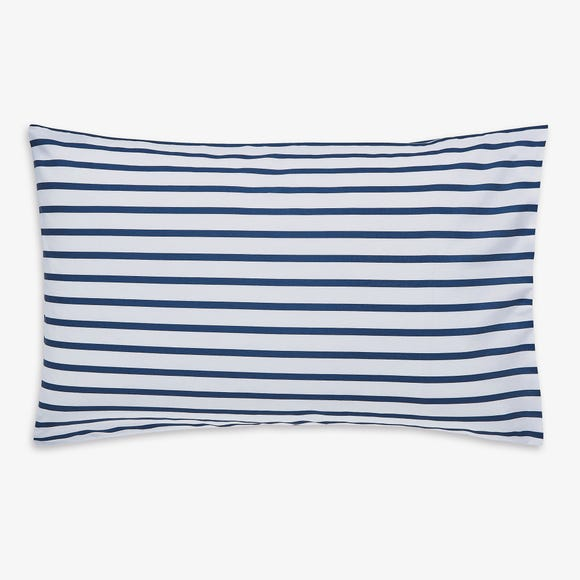 Joules Cambridge Striped 100% Cotton Oxford Pillowcase Navy (Blue)
