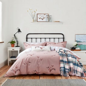 Joules Flying Mallards 100% Cotton Duvet Cover and Pillowcase Set