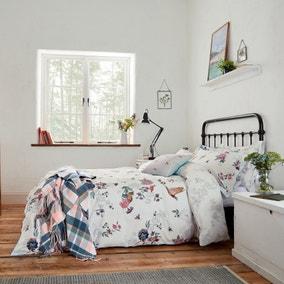 Joules Woodland Floral 100% Cotton Duvet Cover and Pillowcase Set