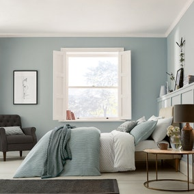 Murmur Edie Lough Green Organic Cotton Duvet Cover and Pillowcase Set