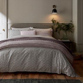 Murmur Rae Heather 100% Cotton Duvet Cover and Pillowcase Set