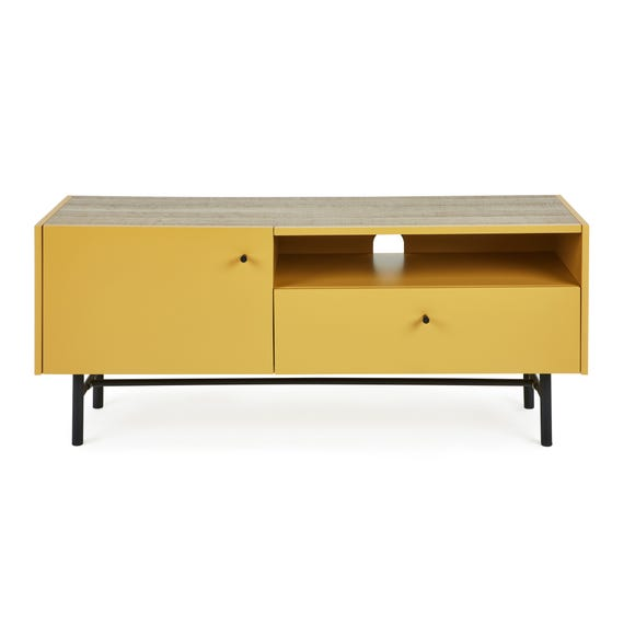 Oliver Wide TV Stand Ochre