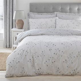 Padstow Grey Reversible Duvet Cover and Pillowcase Set