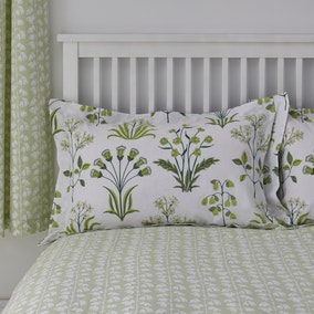 Florentina Green 100% Cotton Oxford Pillowcase