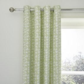 Florentina Green Blackout Eyelet Curtains