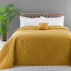 Lars Quilted Yellow Bedspread