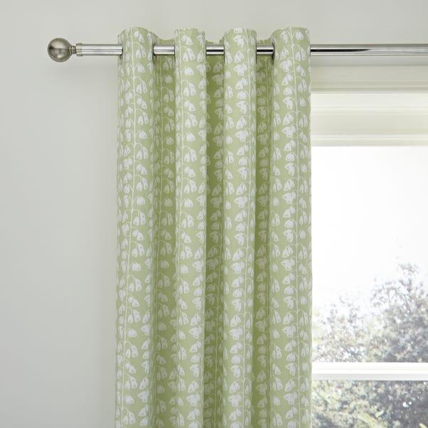 Florentina Green Blackout Eyelet Curtains  undefined