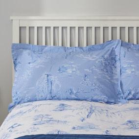 Chinoiserie Blue Oxford Pillowcase